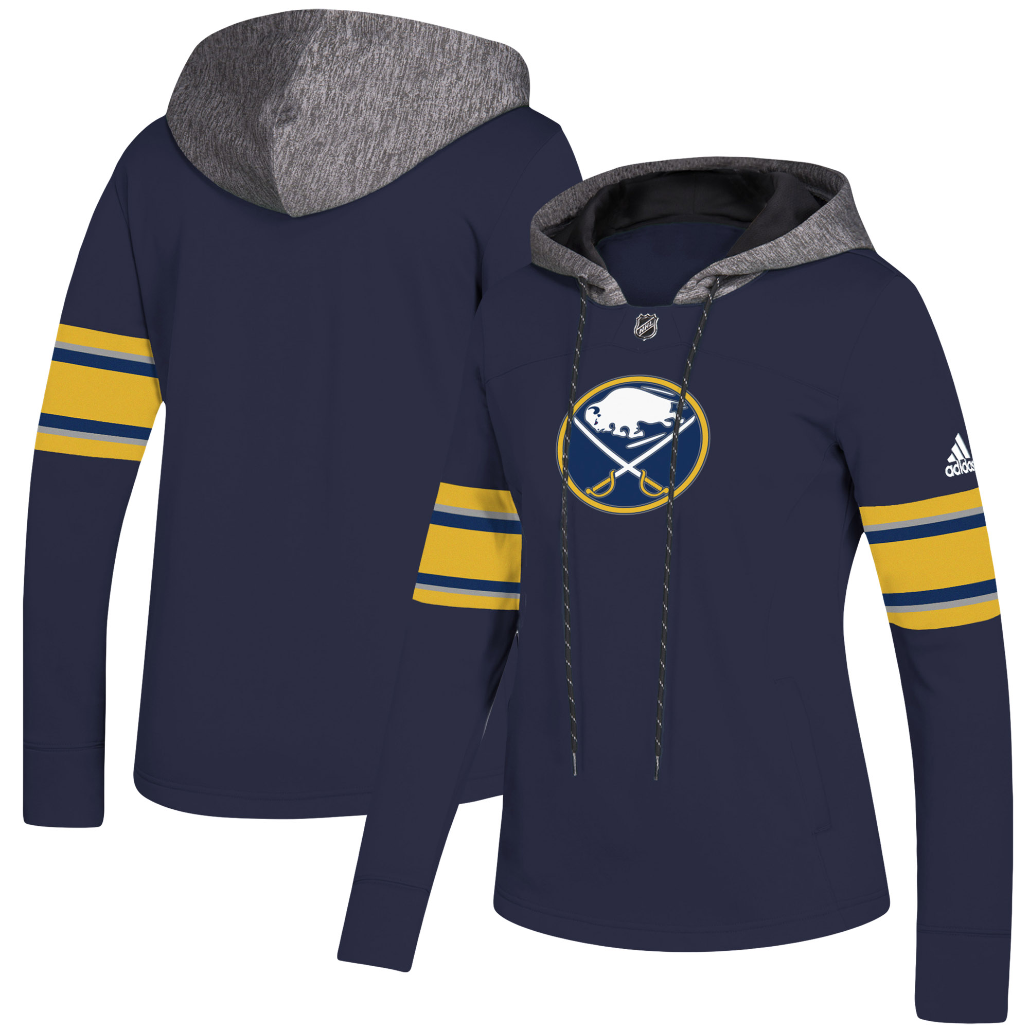 Buffalo Sabres adidas Women's Crewdie Pullover Hoodie - Navy