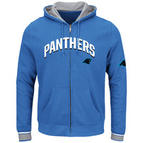 Carolina Panthers Majestic Anchor Point Full-Zip Hoodie - Blue