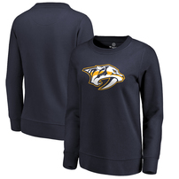 Nashville Predators Fanatics Branded Women's Primary Logo Pullover Sweatshirt - Navy