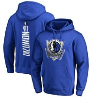 Dirk Nowitzki Dallas Mavericks Fanatics Branded Backer Pullover Hoodie - Blue