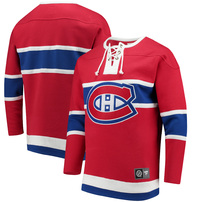 Montreal Canadiens Fanatics Branded Breakaway Lace Up Pullover Sweatshirt - Red