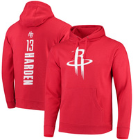 James Harden Houston Rockets Fanatics Branded Backer Name & Number Pullover Hoodie - Red