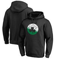 Boston Celtics Fanatics Branded Gradient Logo Pullover Hoodie - Black