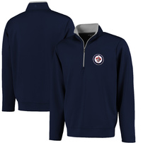 Winnipeg Jets Antigua Leader 1/4 Zip Pullover - Navy Blue