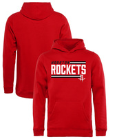 Houston Rockets Fanatics Branded Youth Onside Stripe Pullover Hoodie - Red