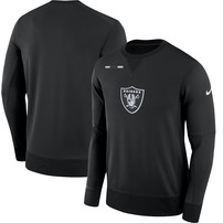 Oakland Raiders Nike Team Logo Performance Sweatshirt - Black