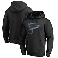 St. Louis Blues Rinkside Pond Hockey Pullover Hoodie - Black