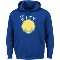 Golden State Warriors Majestic Hardwood Classics Tech Patch Pullover Hoodie - Royal