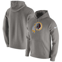 Washington Redskins Nike Club Fleece Pullover Hoodie - Heathered Gray