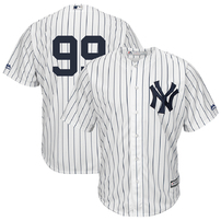 Aaron Judge New York Yankees Majestic Cool Base Player Replica Jersey – White