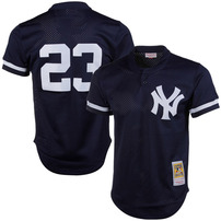 Don Mattingly New York Yankees Mitchell & Ness 1995 Authentic Cooperstown Collection Mesh Batting Practice Jersey - Navy