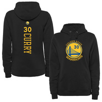 Stephen Curry Golden State Warriors Women's Stacked Name & Number Pullover Hoodie - Black
