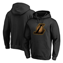 Los Angeles Lakers Fanatics Branded Hardwood Big & Tall Pullover Hoodie - Black