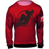 New Jersey Devils Static Rain Printed Sweater - Red