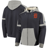 Detroit Tigers Fanatics Branded Iconic Bold Full-Zip Hoodie – Navy/Gray