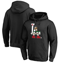 Los Angeles Dodgers Fanatics Branded Hometown Collection California Flag Pullover Hoodie - Black