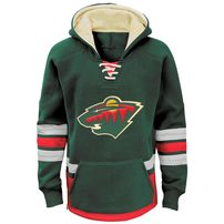 Minnesota Wild Reebok Youth Retro Skate Hoodie - Green