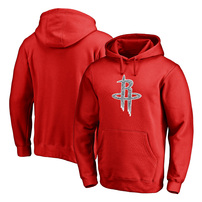 Houston Rockets Fanatics Branded Static Logo Pullover Hoodie - Red