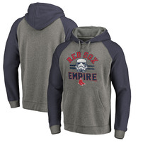 Boston Red Sox Fanatics Branded MLB Star Wars Empire Tri-Blend Pullover Hoodie – Heather Gray