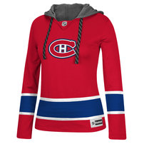 Montreal Canadiens Reebok Women's Jersey Pullover Hoodie - Red