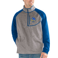 Golden State Warriors G-III Sports by Carl Banks Mountain Trail Half-Zip Pullover Jacket - Gray/Royal
