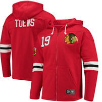 Jonathan Toews Chicago Blackhawks Fanatics Branded Breakaway Full-Zip Hoodie - Red