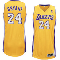 Kobe Bryant Los Angeles Lakers adidas Authentic Jersey - Gold
