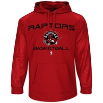 Toronto Raptors Majestic Jump Off Synthetic Pullover Hoodie - Red