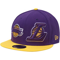 Los Angeles Lakers New Era Y2K Double Whammy 9FIFTY Adjustable Snapback Hat - Purple/Gold