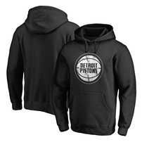 Detroit Pistons Fanatics Branded Marble Logo Pullover Hoodie - Black