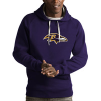 Baltimore Ravens Antigua Victory Pullover Hoodie - Purple