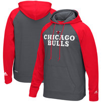 Chicago Bulls adidas Tip-Off Pullover Hoodie - Gray