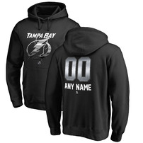 Tampa Bay Lightning Fanatics Branded Any Name & Number Midnight Mascot Pullover Hoodie – Black