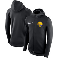 Golden State Warriors Nike Showtime Therma Flex Performance Full-Zip Hoodie – Black