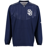 San Diego Padres Majestic On Field Cool Base Training Half-Zip Jacket - Navy