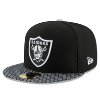 Oakland Raiders New Era 2017 Sideline Official 59FIFTY Fitted Hat - Black