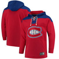 Montreal Canadiens Fanatics Branded Breakaway Lace Up Hoodie – Red/Royal