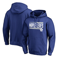 Toronto Maple Leafs Fanatics Branded Iconic Collection On Side Stripe Pullover Hoodie - Royal