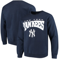 New York Yankees Stitches Pullover Crew Sweatshirt – Navy