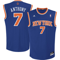 Carmelo Anthony New York Knicks adidas Youth Replica Road Jersey - Royal Blue
