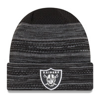 Oakland Raiders New Era Youth 2017 Sideline Official TD Knit Hat - Black