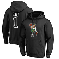 Boston Celtics Fanatics Branded Big & Tall #1 Dad Pullover Hoodie - Black