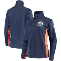 Edmonton Oilers Hands High Women's Hands High MVP Quarter-Zip Pullover Jacket - Royal/Orange