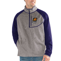 Phoenix Suns G-III Sports by Carl Banks Mountain Trail Half-Zip Pullover Jacket - Gray/Purple