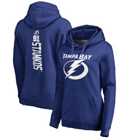 Steven Stamkos Tampa Bay Lightning Fanatics Branded Women's Backer Name & Number Pullover Hoodie - Blue