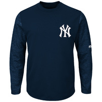 New York Yankees Majestic Authentic Collection On-Field Tech Fleece Pullover Sweatshirt - Navy