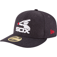 Chicago White Sox New Era Cooperstown Collection Heather Crisp Low Profile 59FIFTY Fitted Hat - Heathered Black