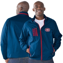 Montreal Canadiens G-III Sports by Carl Banks Game Plan Full-Zip Jacket - Blue