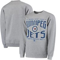 Winnipeg Jets Majestic Ice Classic Pullover Sweater - Gray