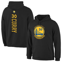 Stephen Curry Golden State Warriors Stacked Name & Number Hoodie - Black